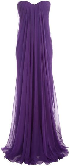 Alexander Mcqueen Purple Draped Bustier Gown - no where to wear it and no money to buy it but that won't stop me from loving it
