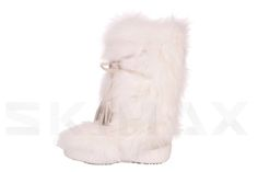 Diavolezza White fox Luxusni zimní boty z pravé kožešiny Diavolezza Luxury winter fur boots Diavolezza White Fox, Fur Boots, Skiing, Slippers, Luxury, Shoes, Fashion, Ski, Moda