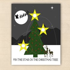 Pin the Star on the Christmas Tree Party by erikasgraphicdesign, $10.00