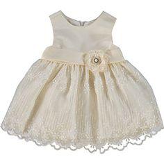 Cream Scallop Trim Dress & Bloomers