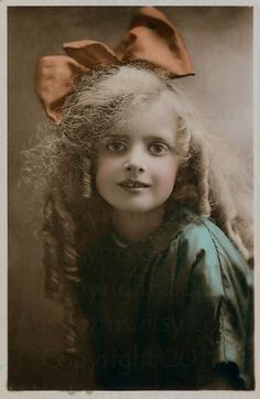 Beautiful blond antique girl  digital download photograph