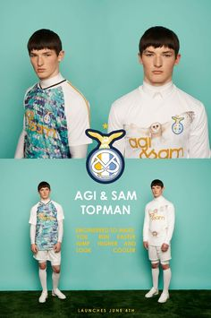 Agi and Sam x Topman Launches June 4th 2013 -  Designed to make you run faster, jump higher and look cooler - Which side are you on?