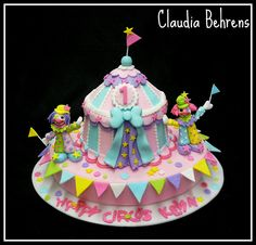 carnival them cake Circus Theme Cakes, Themed Cakes, Circus Party, Circus Wedding, Circus Birthday, Birthday Parties, Pretty Cakes, Beautiful Cakes, Amazing Cakes