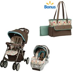 Graco Spree Travel System & Twister w/BONUS Diaper Bag Value Bundle