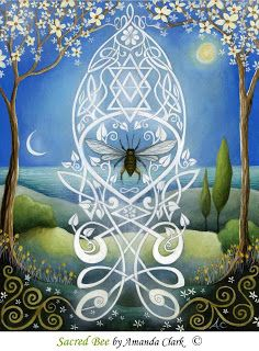 earth angels art: The Shaman, the Honeybee and Legend.