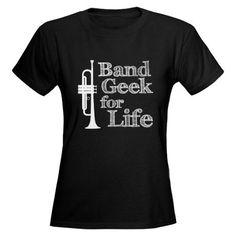 Trumpet Band Geek Women's Dark T-Shirt #cafepress