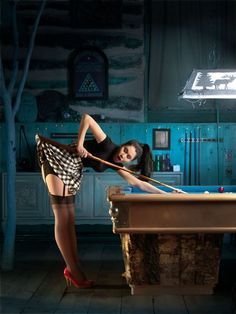 PIN UP BILLIARD by MAURIZIO MARCATO, #pinupgirls