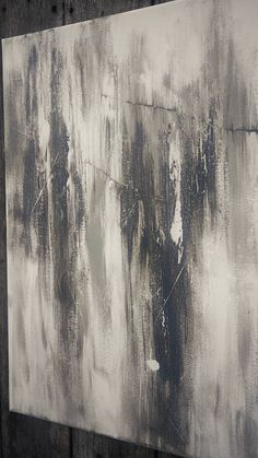 Black Fire This is an original Amy Neal Art Studio abstract painting on 24 x 24 x .75 gallery-wrapped canvas. Smokey shades of off-white, gray, taupe, and charcoal with a rustic distressed feel. Warm, neutral acrylic with subtle texture. Matte finish with sides painted. Ready to