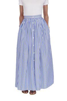 Custom Button Front Skirt