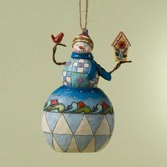 Snowman Birdhouse Hanging Ornament - I have a board entitled Jim Shore Collection that has others I like.