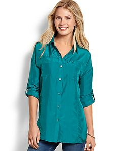 Tommy Bahama - Kalena Silk Boyfriend Shirt  $138 (NO WISHLIST OPTION)