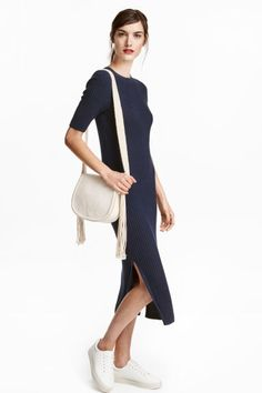 Robe en maille côtelée | H&M