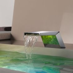 Another gorgeous bathroom faucet, if you like a streamlined, industrial look.   #interiordesign #modern #bathroom
