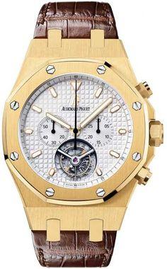 Audemars Piguet Royal Oak Tourbillon Chronograph 18 kt Yellow Gold Men's Watch 25977BA.OO.D088CR.01