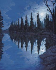 Les peintures en trompe-l'oeil de Rob Gonsalves
