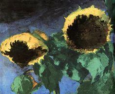 Nolde, Emil (German, 1867-1956) - Ripe Sunflowers - 1930 (by *Huismus)