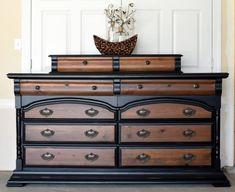 Old French Furniture Walnut Furniture, Black Furniture, French Furniture, Refurbished Furniture, Upcycled Furniture, Furniture Makeover, Painted Furniture, Antique Furniture, Antique Desk