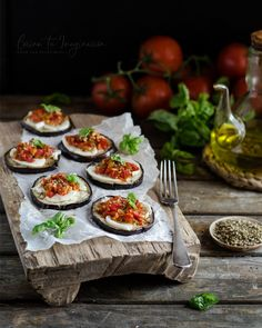 Tasty Vegetarian Recipes, Healthy Recipes, Mozzarella, Portobello, Sin Gluten, Food Photo, Tapas, Brunch, Food And Drink