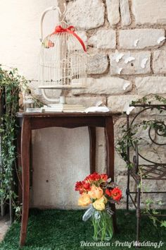 #cage #oiseau #bois #nature #fleurs #décoration #babyshower #pretty #wedding @Pretty Wedding