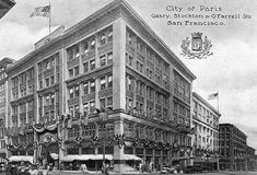 The City of Paris reopens in 1909. The company redesigned the store following the San Francisco Earthquake, adding the signature rotunda and stained glass dome that has been incorporated into the current desing of the Neiman Marcus store. San Francisco.