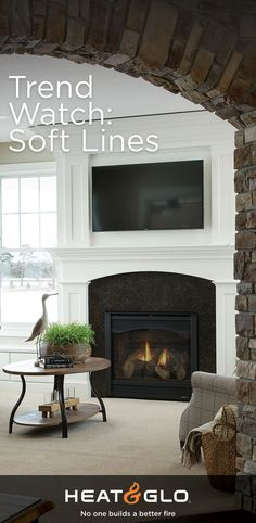 We're calling it now: Curves and soft lines are in. And as the focal point of a home, fireplaces have kept pace! Passionate product designers at Heat & Glo stay on top of what's on trend so you can create memories around a hearth that fits your lifestyle. Fireplace Design, Gas Fireplace, Fireplaces, More Curves, Slipper Chairs, Round Bar, Fireplace Inserts, Arched Windows, Trending Now