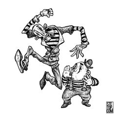 Self proclaimed best mime act! #line #art #character #design #illustration #expressions #concept #drawing #traditional #draw #development #pose #conceptart #cartoon #fantasy #quirky #blackandwhite #performers #mime #duo