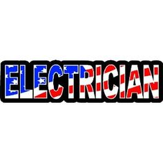 "3 - Electrician US Flag Hard Hat / Helmet Stickers 1"" x 2"" H139"