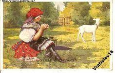DÍVKA A KOZA /mal.PEROUTKA/r1939
