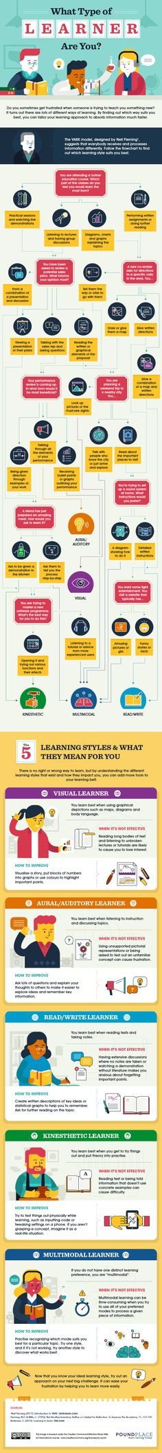 What type of learner are you? Did you know we all learn very differently? By understanding YOUR learning type, you'll better set yourself up for success to learn quickly and effectively in your studies, your job or with anything you're passionate about! Future Career Quiz, Do You Know What, Told You So, Types Of Learners, Job Security, Data Charts, What Type, Learning Styles, Financial Literacy