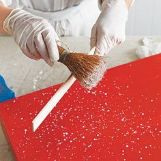 Photo: Wendell T. Webber   thisoldhouse.com   from How to Create Paint-Spattered Furniture