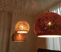 Exterior Design, Interior And Exterior, Thatched House, Ceramic Light, Pendant Lighting, New Homes, Diy Crafts, Ceiling Lights, Creative