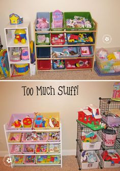 It is possible for kids to have too much of a good thing.  Find out how getting rid of most of our toys made us a happier family! {OneCreati...