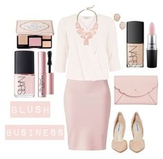 """""""Blush Business"""" by e-atha on Polyvore featuring Winser London, Billie & Blossom, Steve Madden, Kate Spade, NARS Cosmetics, MAC Cosmetics, Too Faced Cosmetics and Kendra Scott"""