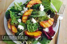 Seasonal Potluck: Grilled Peach and Buffalo Mozzarella Salad