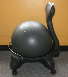 """this is what everyone who sits at a desk daily...should invest in.  Great for posture and caloric burn even while sitting"" I WOULD LOVE THISSS!!!!! :D"