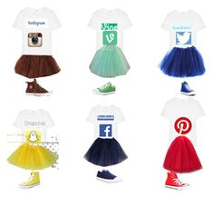 """""""Social media costumes"""" by sadester1231 ❤ liked on Polyvore featuring Yves Saint Laurent and Converse"""
