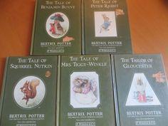 5 Small Beatrix Potter Books Peter Rabbit Tailor Gloucester Tiggy Winkle