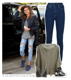 """""""At Just Jared's Fall Fun Day w/ Zendaya"""" by amberamelia-123 ❤ liked on Polyvore featuring Wood Wood, Converse, Calvin Klein Underwear and Persol"""