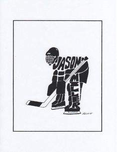 Personalized Sport  Figure  Hockey Goalie by rongenest on Etsy, $25.00