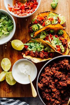 Ground Beef Taco Meat Recipe - Live Simply Easy Healthy Recipes, Meat Recipes, Easy Dinner Recipes, Mexican Food Recipes, Appetizer Recipes, Real Food Recipes, Ethnic Recipes, Quick Meals, Simple Meals