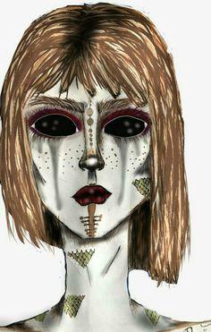 Es una mujer que llora y no quiere ver su realidas Halloween Face Makeup, Around The Worlds, Instagram, Illustrations, Women