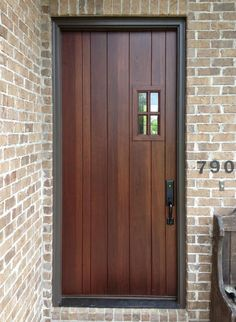 Craftsman Wood Front Entry Door DbyD-4234, exterior door