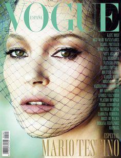 Kate Moss for Vogue Espana cover, Dec 2012, by Mario Testino