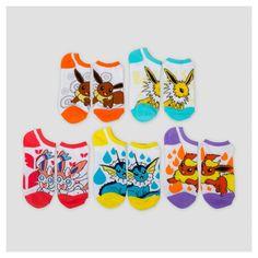 Pokemon Women's Low-Cut 5-Pack Socks - Multicolor 9-11,