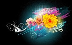 Flower Vector Designs 1080p
