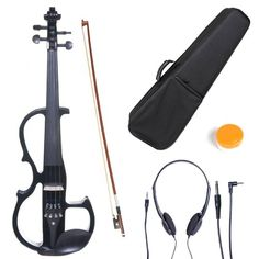 Cecilio L34CEVNL2BK LeftHanded Solid Wood Black Metallic Electric Violin with Ebony Fittings in Style 2 >>> Details can be found by clicking on the image.(It is Amazon affiliate link) #country