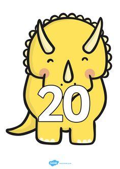 Cijferlijn: dino's Dinosaurs Preschool, Dinosaur Activities, Dinosaur Crafts, Abc Coloring Pages, Math 2, Pikachu, Clip Art, Projects, Cards
