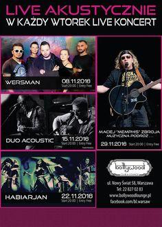 Kolejna dawka muzyki na żywo i nasi wspaniali artyści na scenie Bollywood Club & Lounge !!! Listopad wygląda tak :-) http://www.bollywoodlounge.pl/waw/