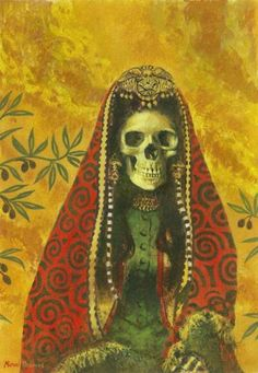 Michael Thomas. Death Witch, 2011. Acrylic on cotton canvas paper.