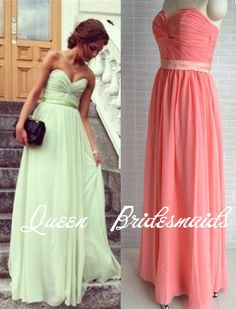 color prom dresses  bridesmaid dresses  Long  by QueenBridesmaids